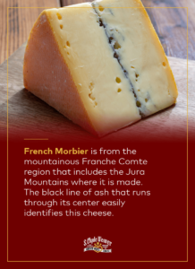 French Morbier Cheese
