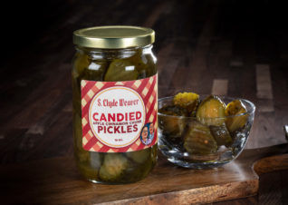 candied apple cinnamon pickles