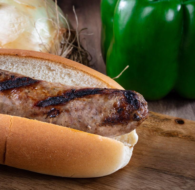fresh bratwurst sausage