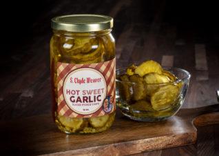 hot sweet garlic pickle chips