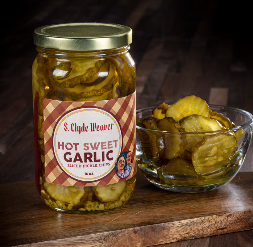 hot sweet garlic pickle chips