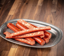 Kielbasa and cheese snack sticks