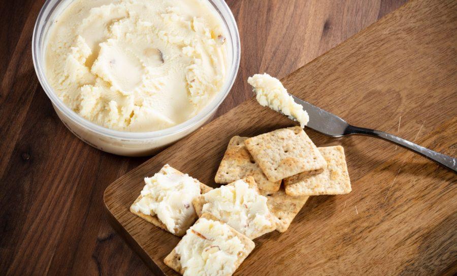 Swiss almond cheese spread