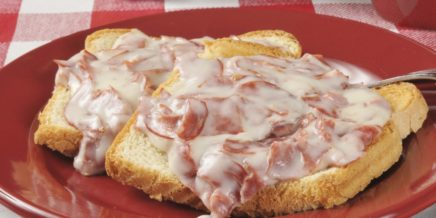 creamed dried beef over toast