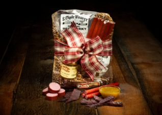 Smoked meats gift basket