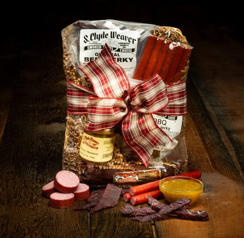 Smoked meats gift basket