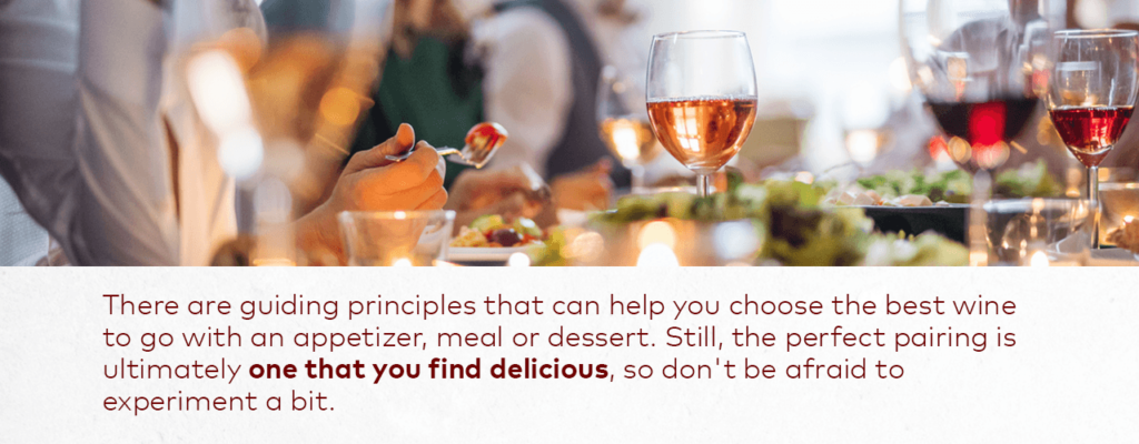 food pairing with wine