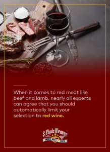 red meat wine pairing