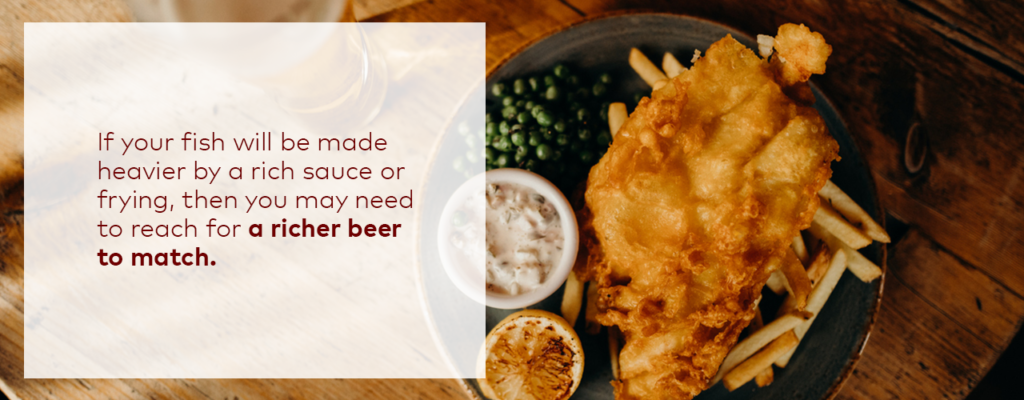 Beer pairing with fish