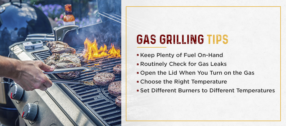 Burgers on a Gas Grill